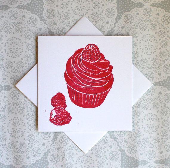 Cupcake greetings card raspberries pink cakes by theprintbee cake cupcake greetings card raspberries pink cakes by theprintbee m4hsunfo
