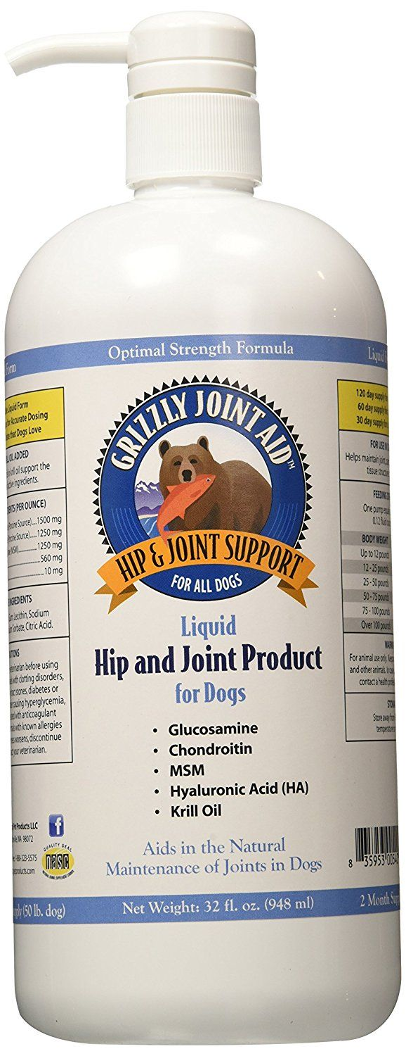 Grizzly Pet Products Liquid Joint Aid For Dogs 32 Oz Remarkable Product Available Now This I Dog Glucosamine Joint Supplements For Dogs Dog Supplements
