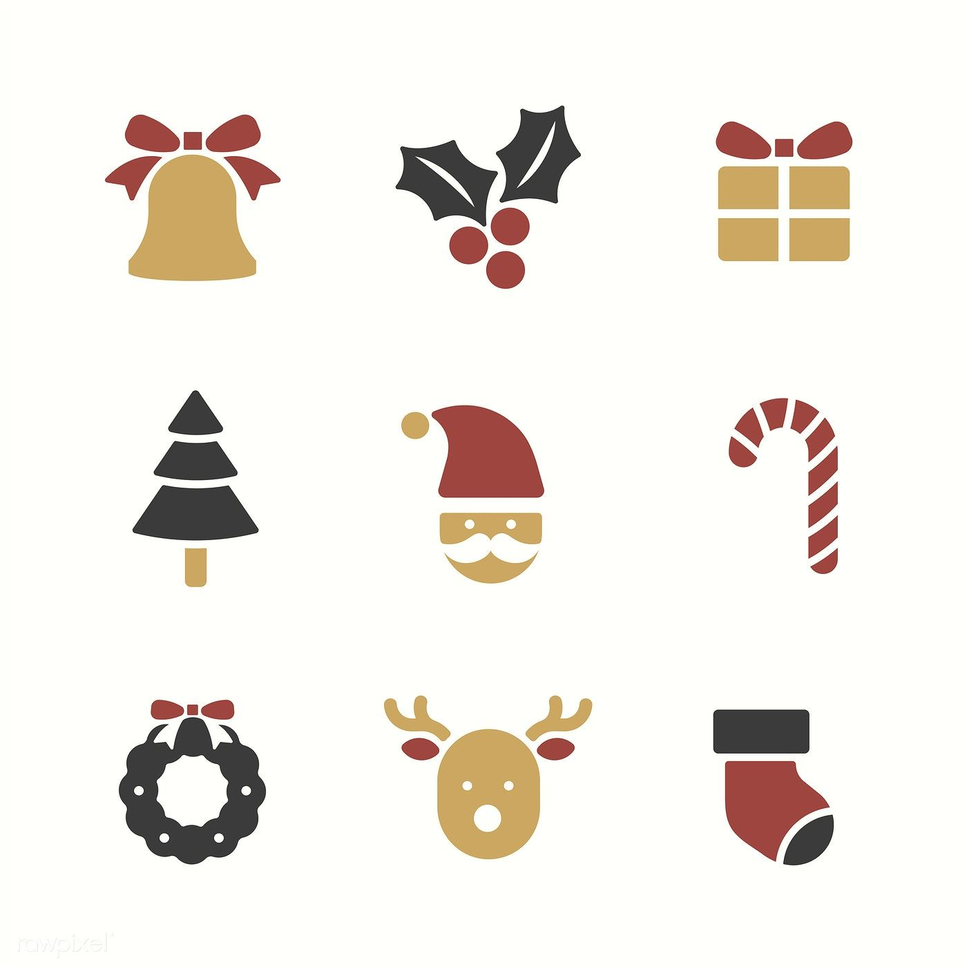 Christmas Holidays Icon.Christmas Holiday Symbols Vector Set Free Image By
