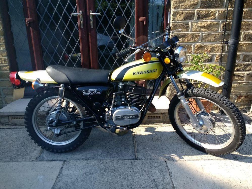 Ebay Kawasaki 1973 F11 250 Classic 2 Stroke Trail Enduro Bike Motorcycles Biker