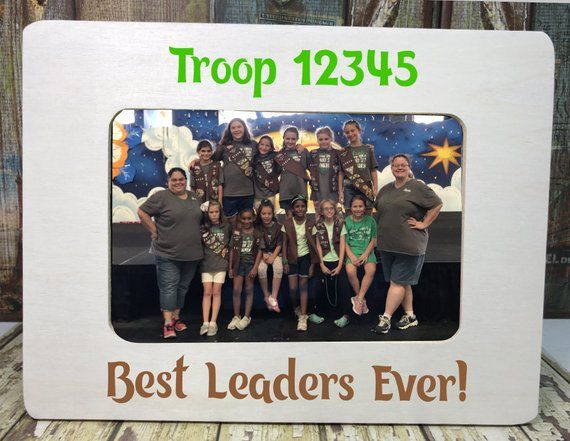 Wooden 4x6 Personalized Picture Frame Scouts End Of Year