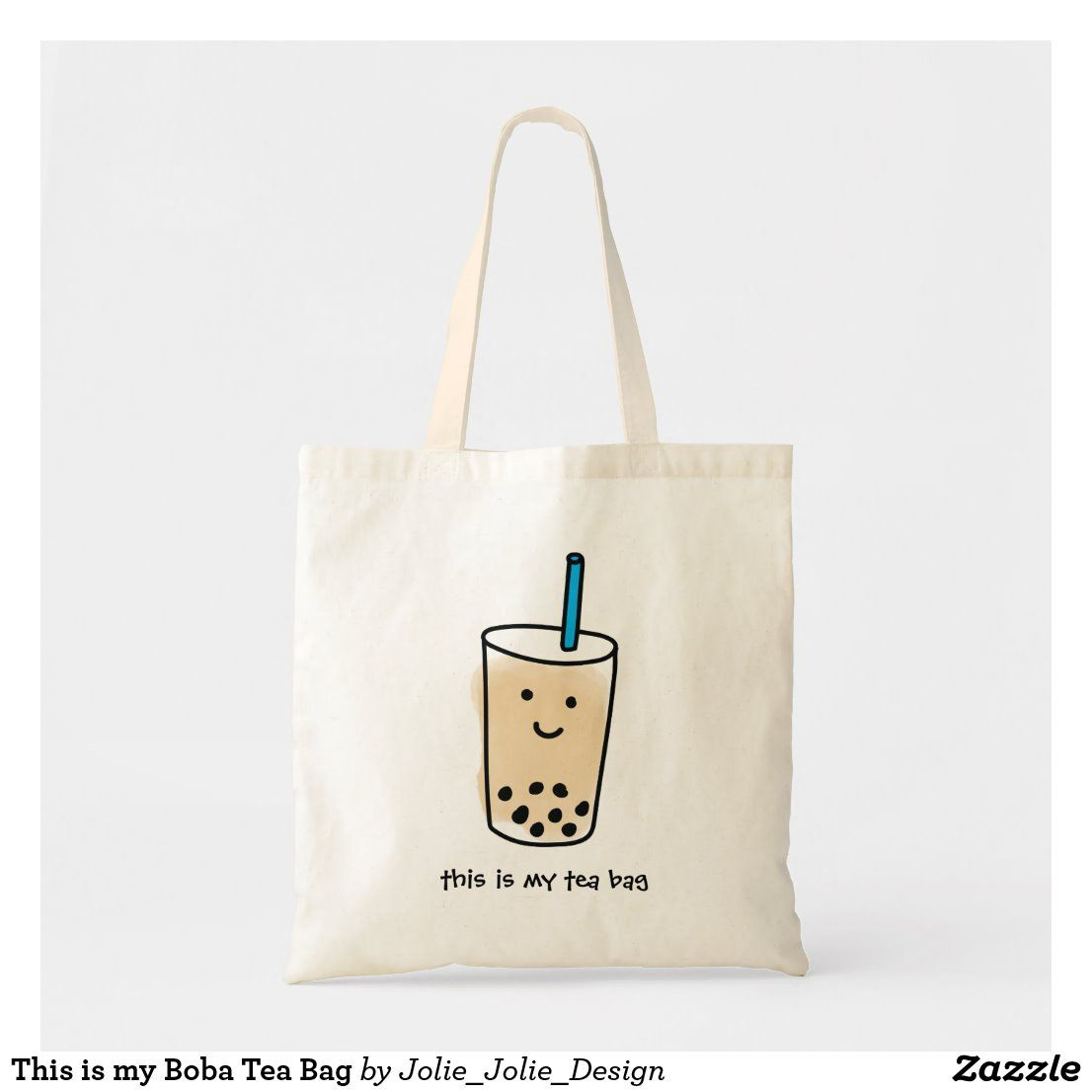 Download This Is My Boba Tea Bag Zazzle Com In 2020 Fashion Tote Bag Design Canvas Bag Design Diy Tote Bag