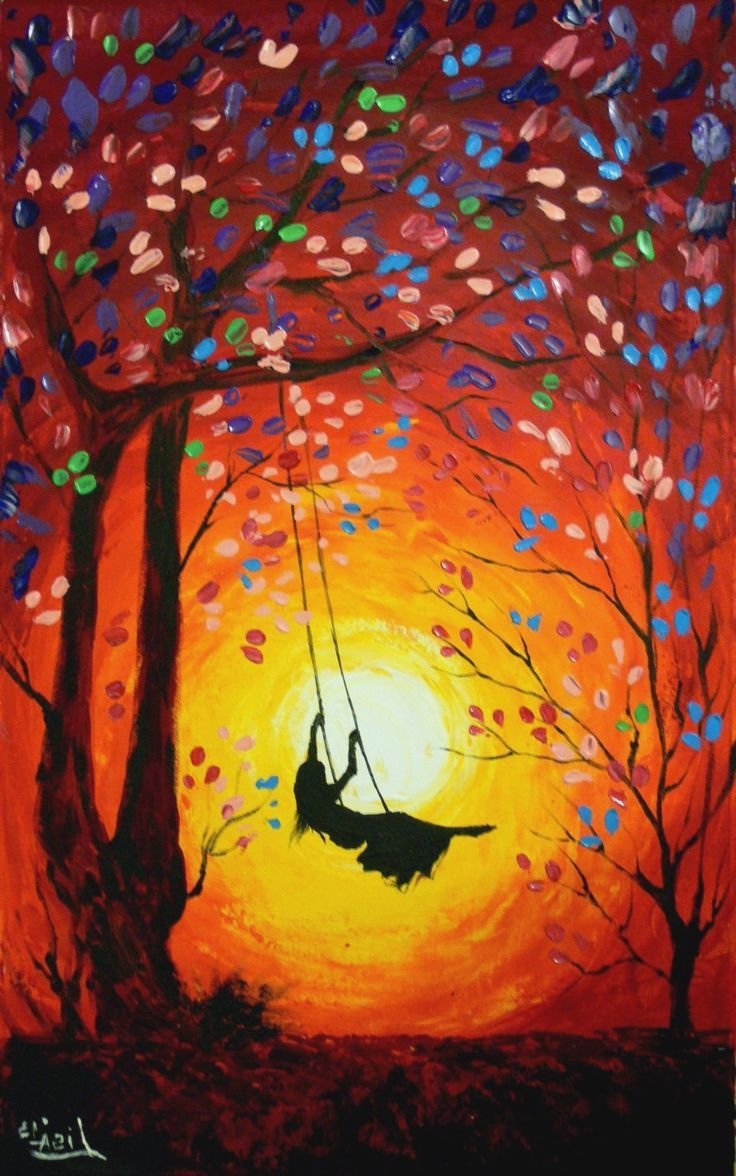 Painting Ideas Acrylic Canvas Bsm Easy Landscape Paintings