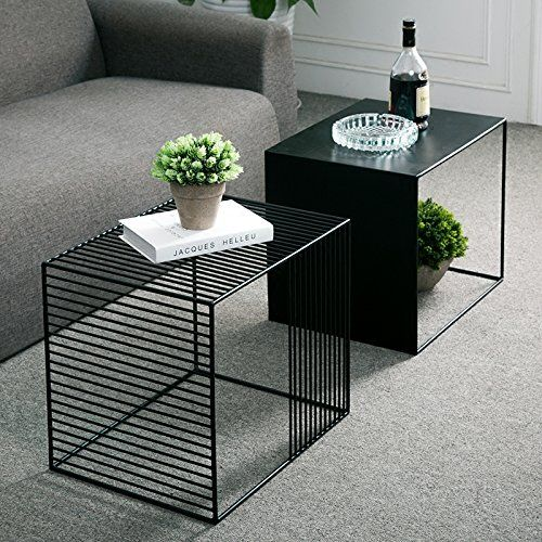 Amazon Com Wgx Square Wrought Iron Coffee Table Outdoor Iron End