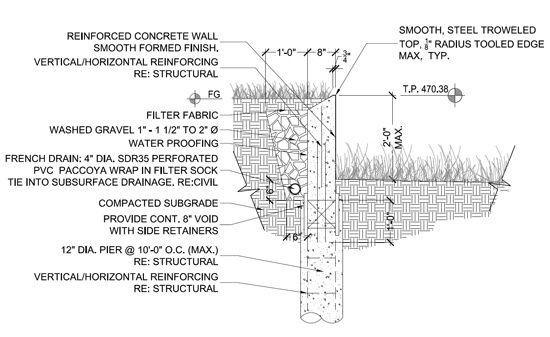 Retaining Wall Detail Retaining Wall Design Retaining Wall Construction Retaining Wall