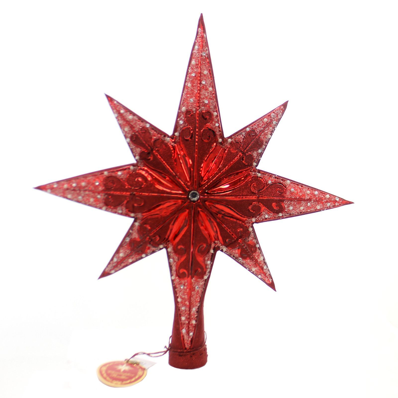 Christopher Radko Ruby Stellar Finial Tree Topper Finial  Sbkgiftscom