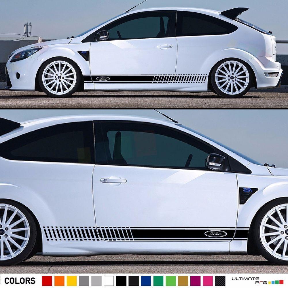 Decal Sticker Stripe Kit For Ford Focus Rs St Xenon Headlights Led Spoiler Visor Ultimateprocy