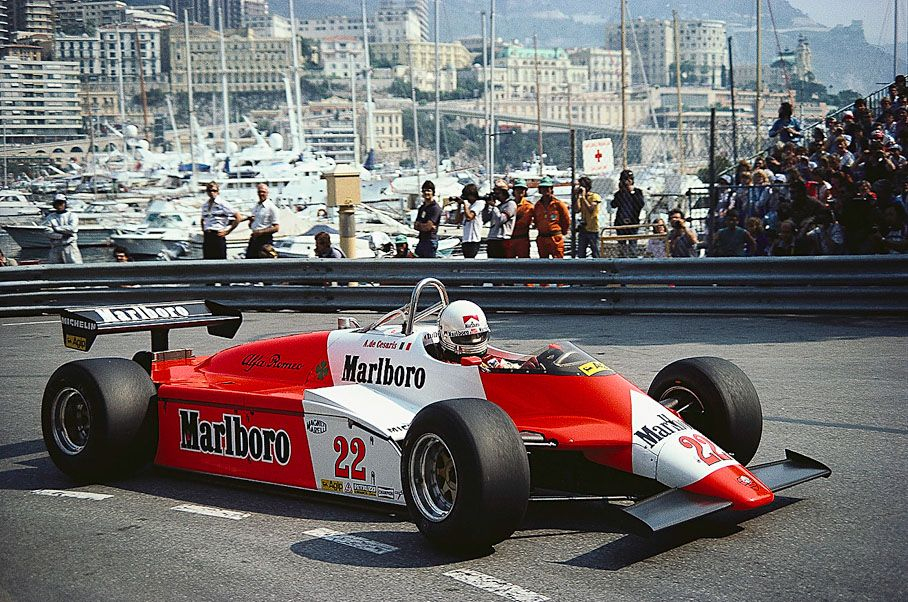 andrea de cesaris alfa romeo 182b monaco grand prix 1982 racer pinterest alfa romeo. Black Bedroom Furniture Sets. Home Design Ideas
