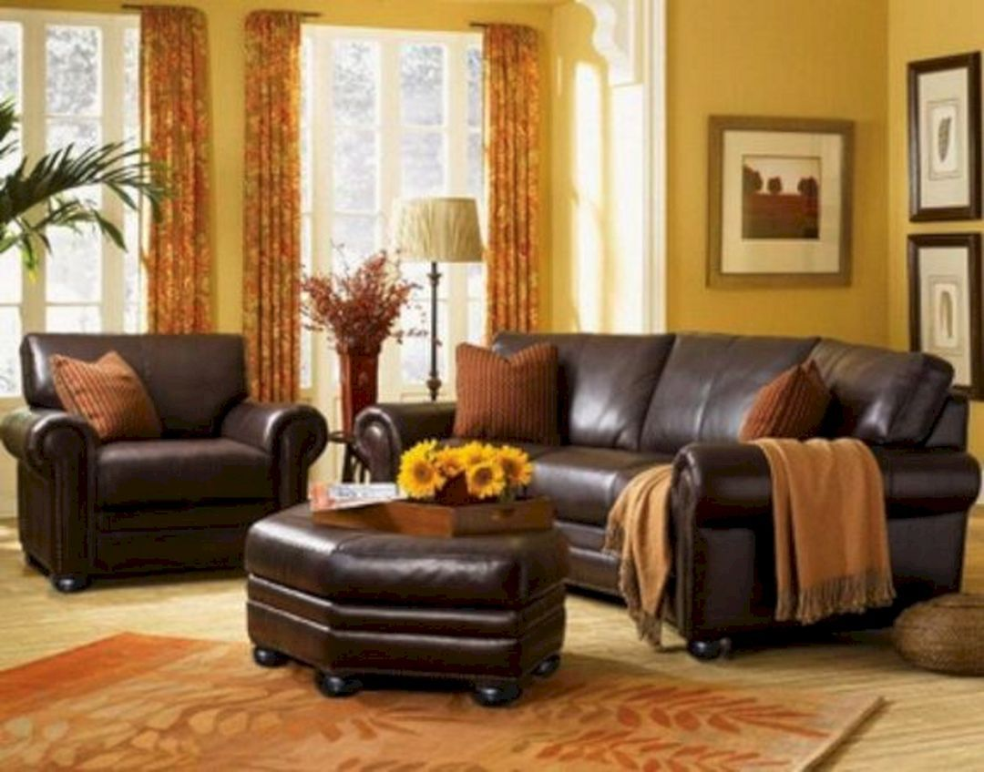 Best 45 Best Beautiful Navy Brown Living Room Ideas Freshouz Com Leather Living Room Furniture 400 x 300