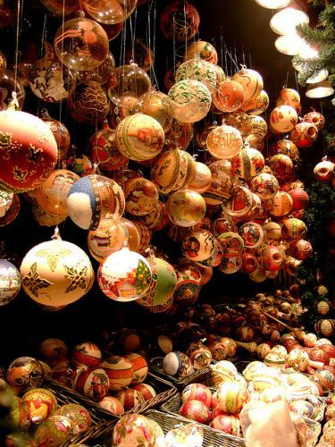 This town has such amazing Christmas ornaments. Have to see it to believe it.     Schönbrunn Christmas market, Vienna, Austria