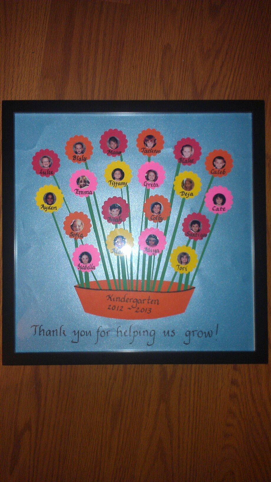 My kindergartener and I made this for an end-of-the-year gift for ...