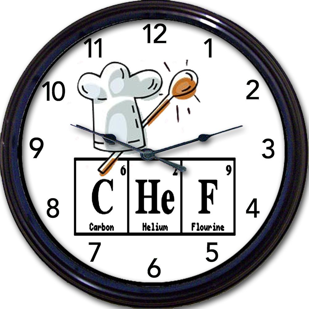 Chef periodic table clock chemistry elements kitchen cook baker chef periodic table clock chemistry elements kitchen cook baker breaking bad gamestrikefo Gallery
