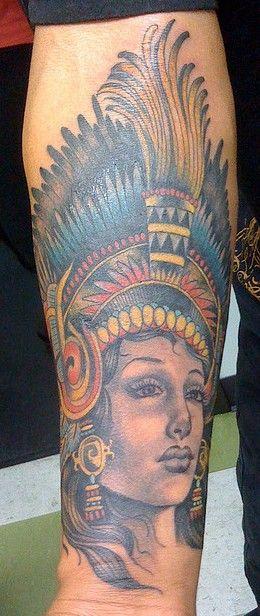 Aztec Princess Tattoos Tattoos So Aztec Princess Tattoo On Forearm Princess Tattoo Forearm Tattoos Aztec Tattoo