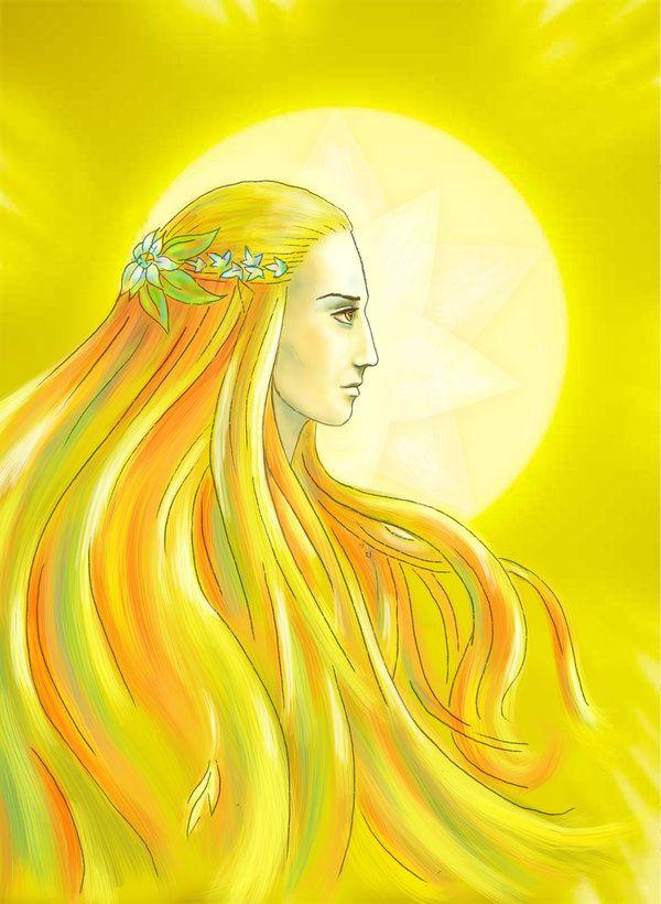 Arien - The Maia who guided the sun Anar Después de que Melkor y Ungoliant destruyeran los Dos Árboles de Valinor, que daban luz a las Tierras Imperecederas, los Valar decidieron alumbrar la Tierra Media, que estaba sumida en un sueño encantado. Construyeron una poderosa carroza a partir de un fruto de Laurelin, el dorado de los Dos Árboles, y encomendaron a Arien, un espíritu de fuego, que la condujera comandando su curso por los círculos del cielo.