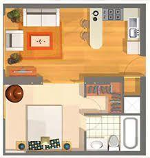 Mini Departamento De 40m2 Magnifica Distribución Para Un Minidepartamento Para Un Matrimonio Sin Planos De Casas Planos De Departamentos Pequeños Apartamentos