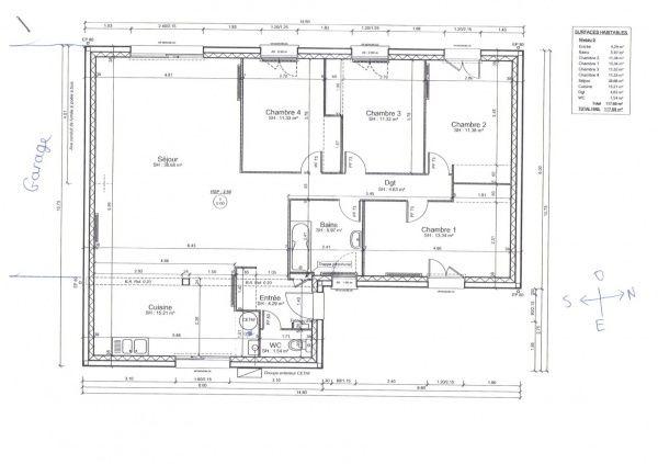 Plan de maison 120m2 plans Pinterest How to plan