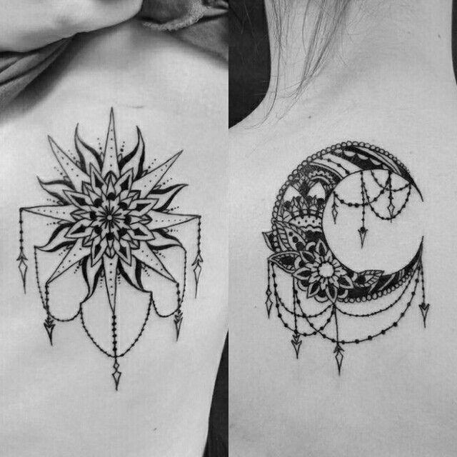 Sol Y Luna Tatuajess Tatuaje Piercing Tatuajes De Luna