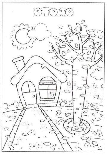 imagenes de otoño para colorear e imprimir | Worksheet | Pinterest ...