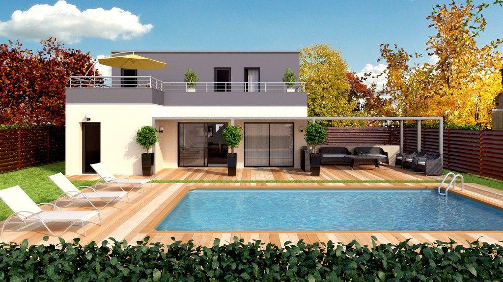 Resultat De Recherche D Images Pour Maison Avec Terrasse A L Etage