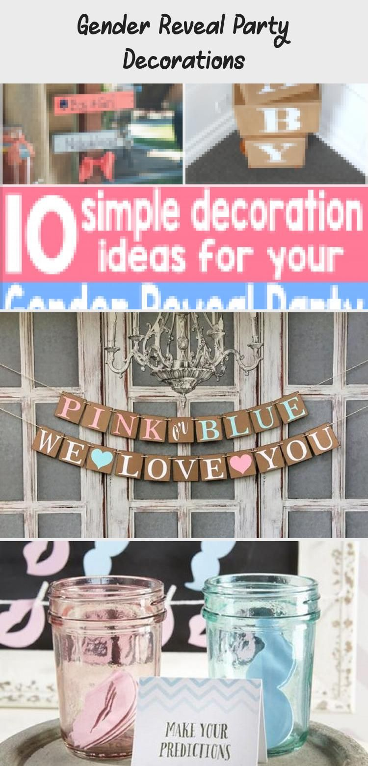 Gender Reveal Party Decorations - PickingPeanuts.com #PartyDecorations2020 #genderrevealideasforpartydiy