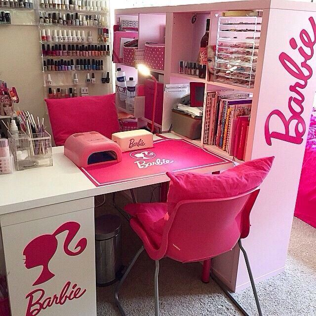 Ideas For Decorating Salons: Home Nail Salon Decor Ideas