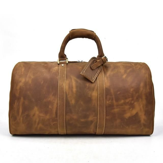 Overnight Leather Weekend Bag  Dapper  Leather  TravelBag  DuffleBag   OvernightBag  WeekendBag e90e783e1d63f
