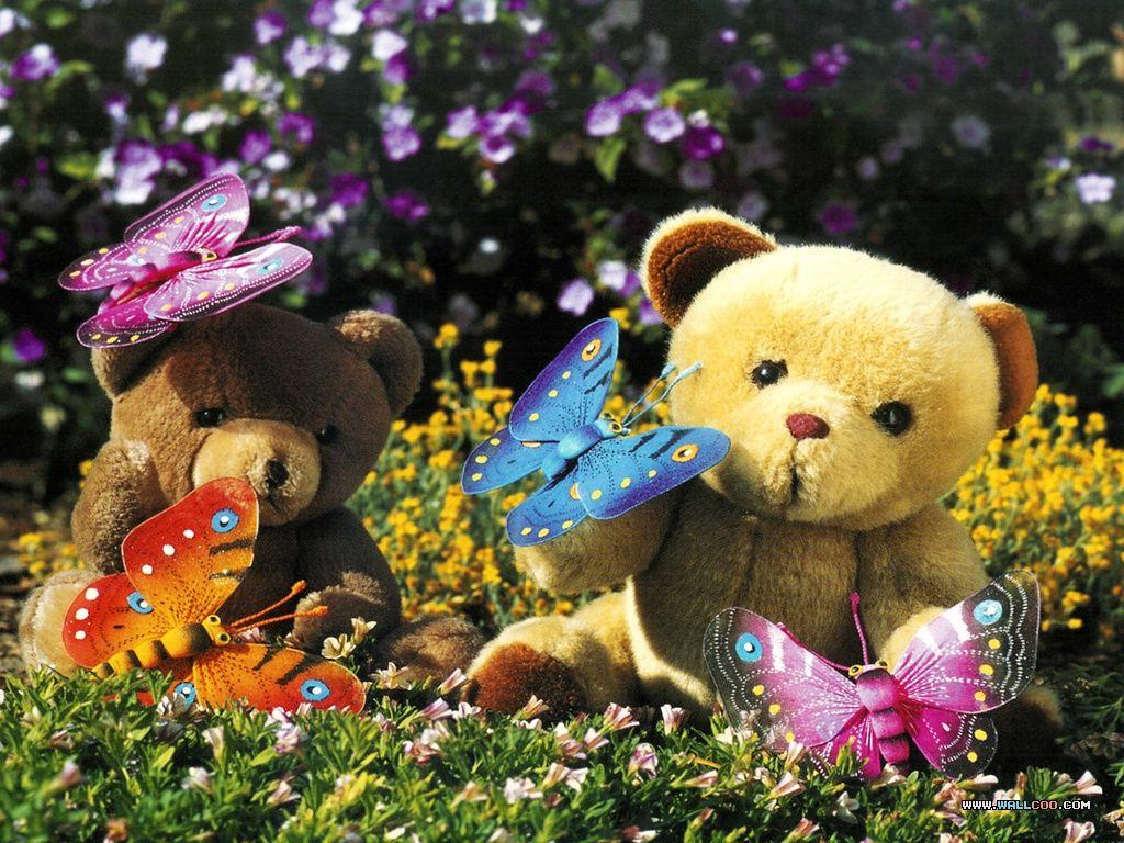 Teddy bears with butterflies | Teddy Bears! <3 | Pinterest ...