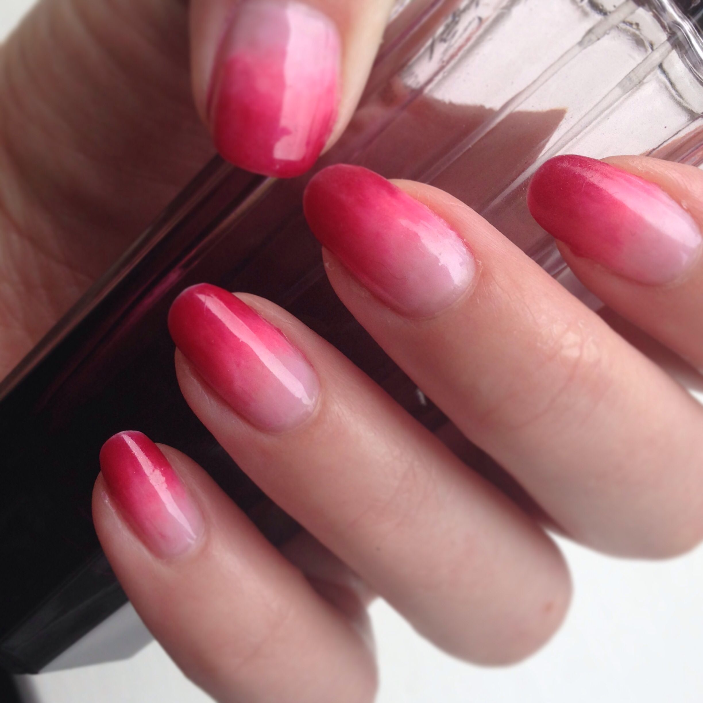 My pink ombre nails using Sensationail Pink Chiffon, Pink Bouquet ...
