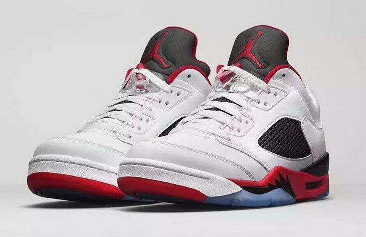 Authentic Cheap Air Jordan 5 Wholesale Jordan 5 Low Red White Black Shoe  for Sale | Popular Jordan Sneakers | Pinterest | Wholesale jordans, Air jordan  and ...