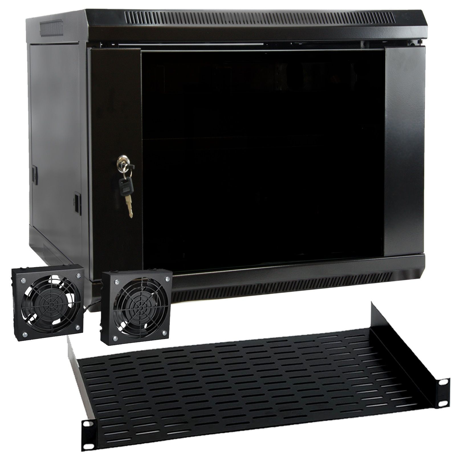 Megamounts 9u Black Wall Mount Rack Enclosure Server Cabinet 9u Server Cabinet 94395010m Products In 2019 Wall Mount Rack Server Cabinet Server Rack