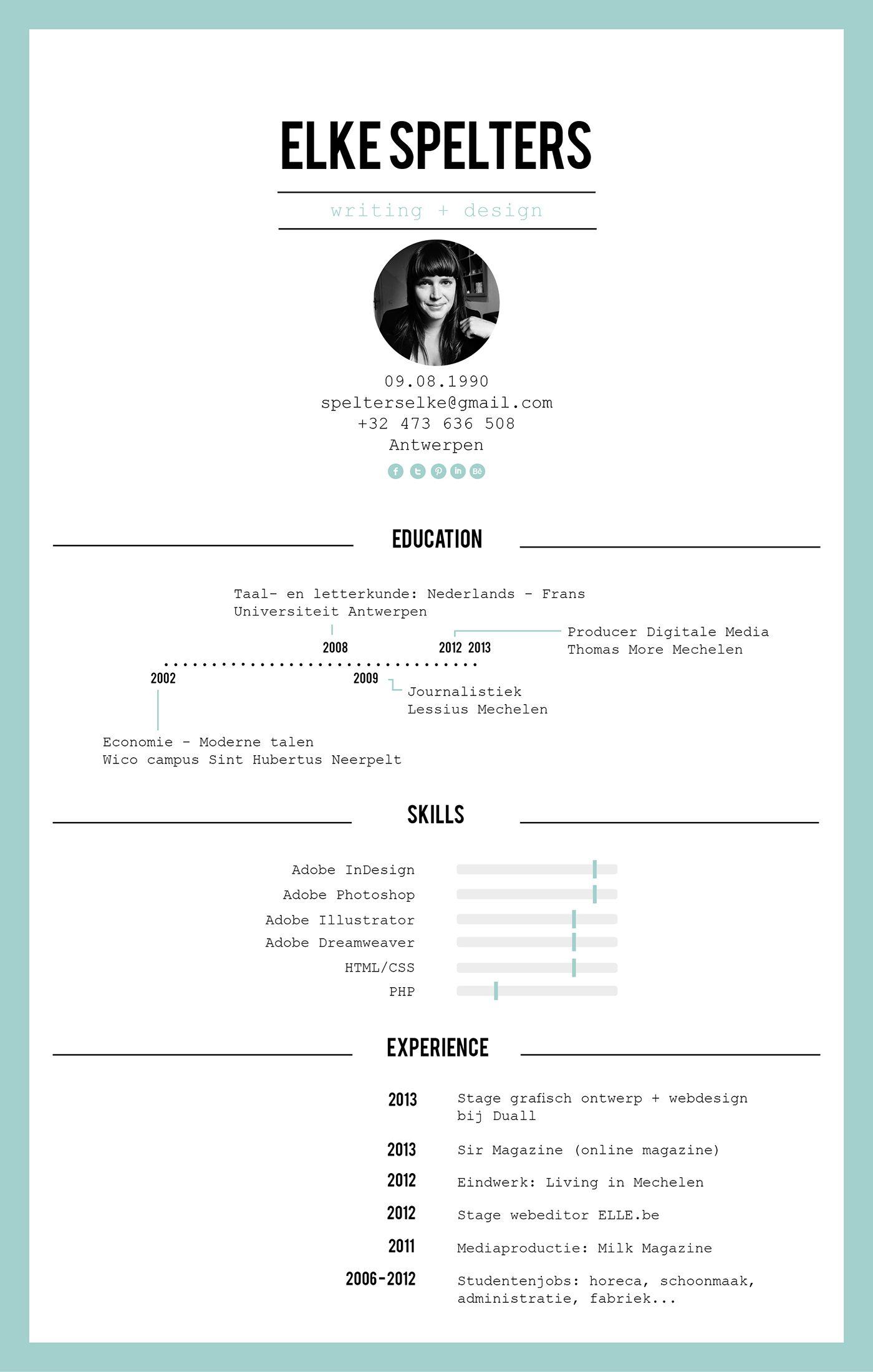 Personal resume. Graphic design resume, Resume design