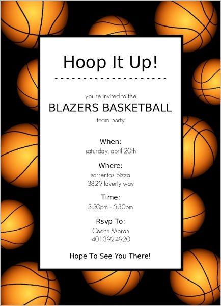 basketball border basketball invitation basketball party