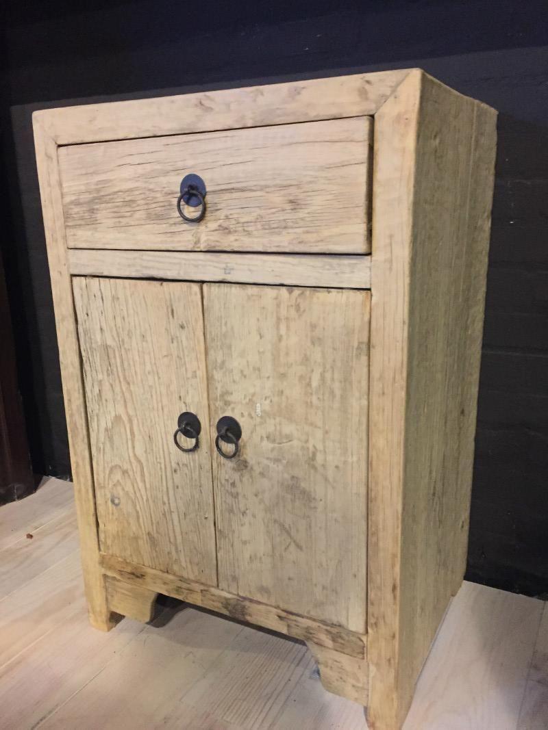Ongebruikt Landelijk nachtkastje gemaakt van oud hout (met afbeeldingen RC-61