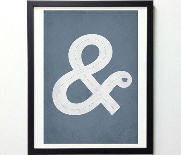 Ampersand Love Print