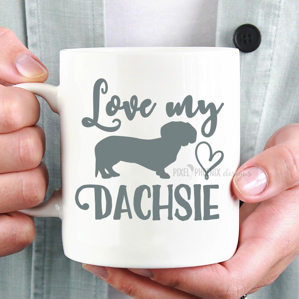 Download Love my dachsie SVG, dog lovers SVG, Dachshund SVG, Wiener ...