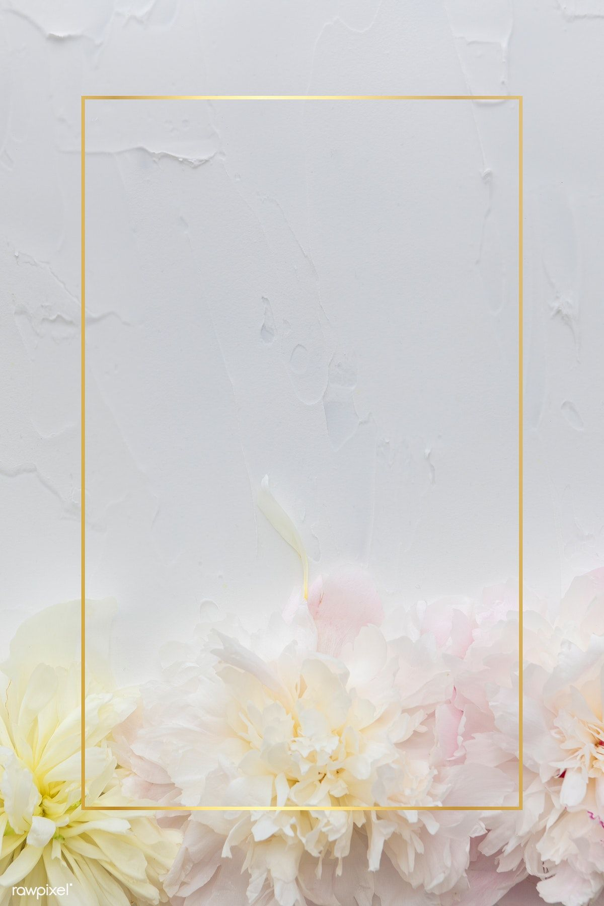 Download Premium Psd Of Blank Beautiful Flowers Frame Mockup 1212348 Flower Frame Frame Mockups Flower Illustration