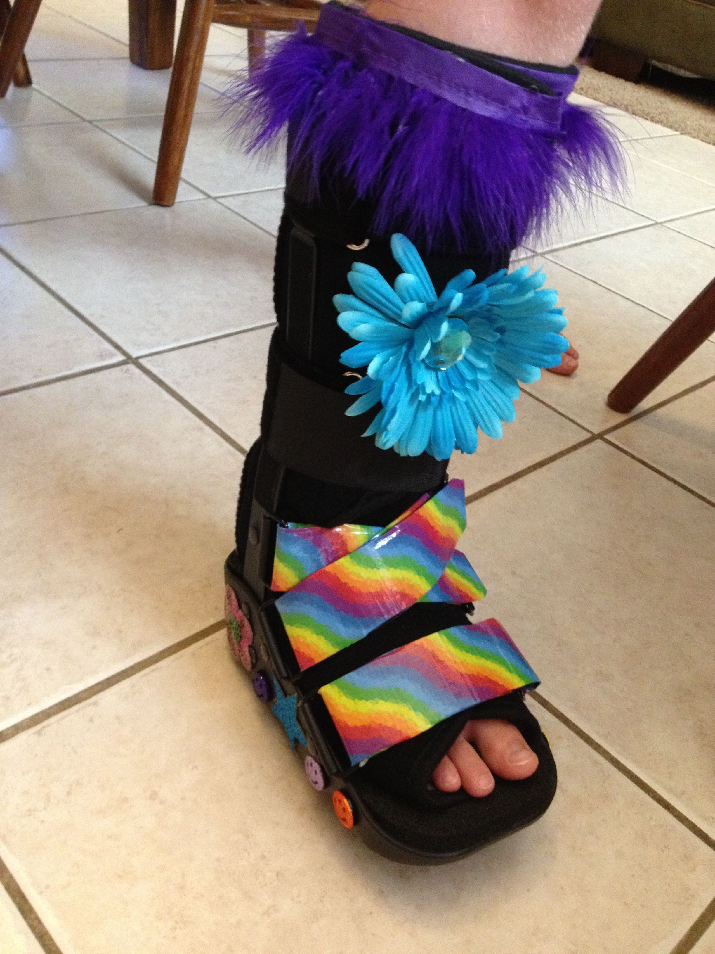 The blinged up boot! Walking boot cast | Courtney's boot | Walking