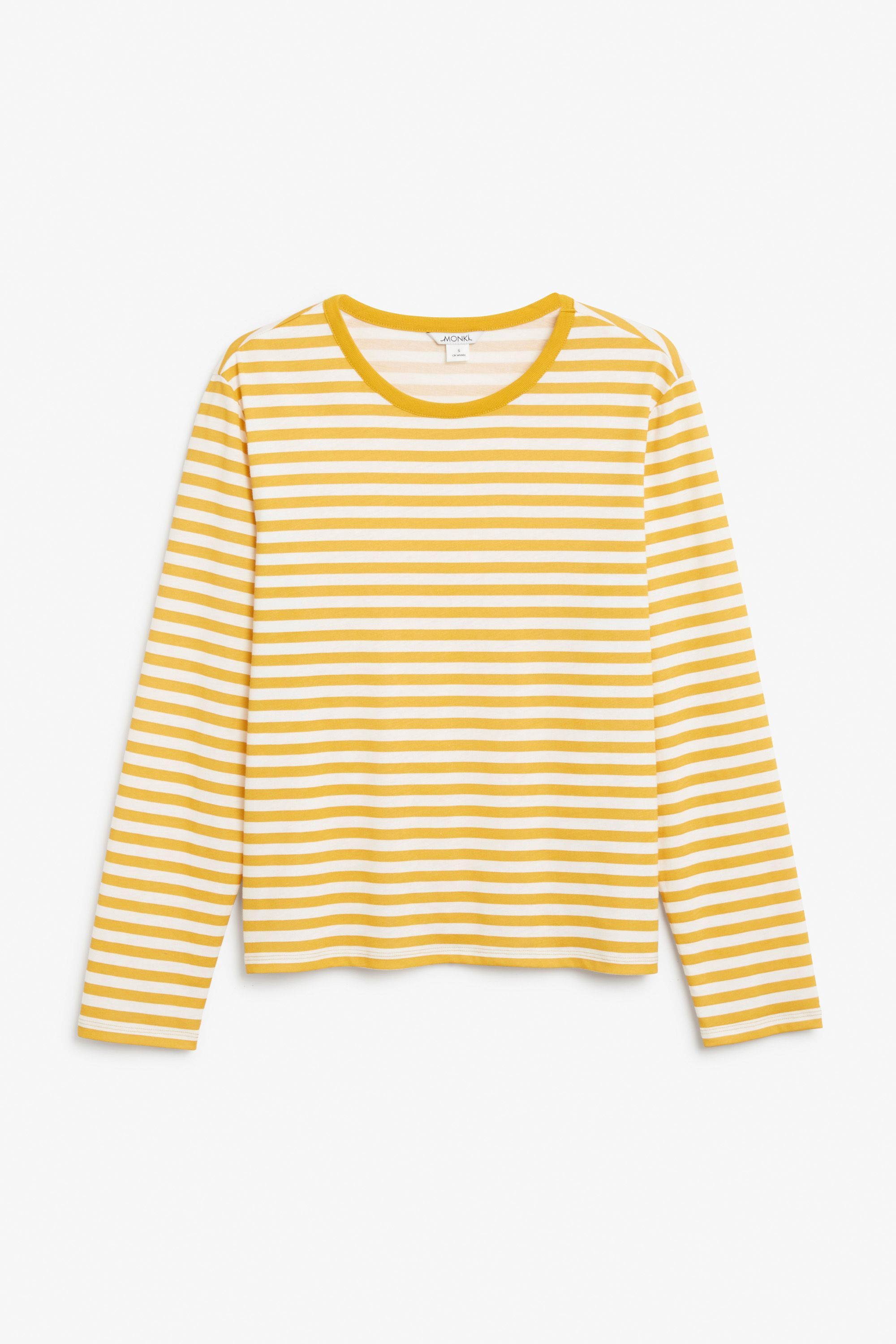 ac3a77de714cca Monki Soft long-sleeved top in Yellow Reddish
