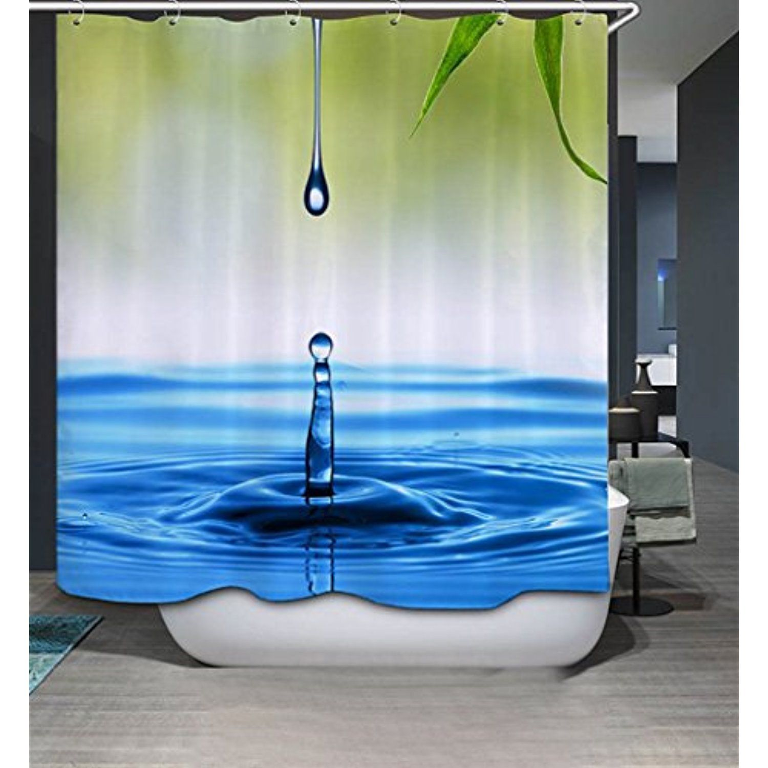 SYTX Personality Shower Curtain/Bath Curtain/Shower Liner Water drop ...
