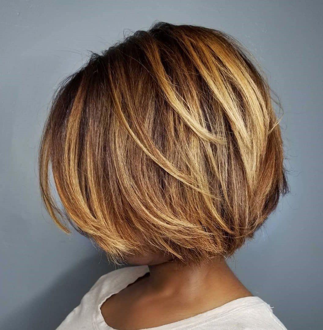 60 Showiest Bob Haircuts For Black Women In 2020 Haarschnitt Bob Haarschnitt Bob Frisur