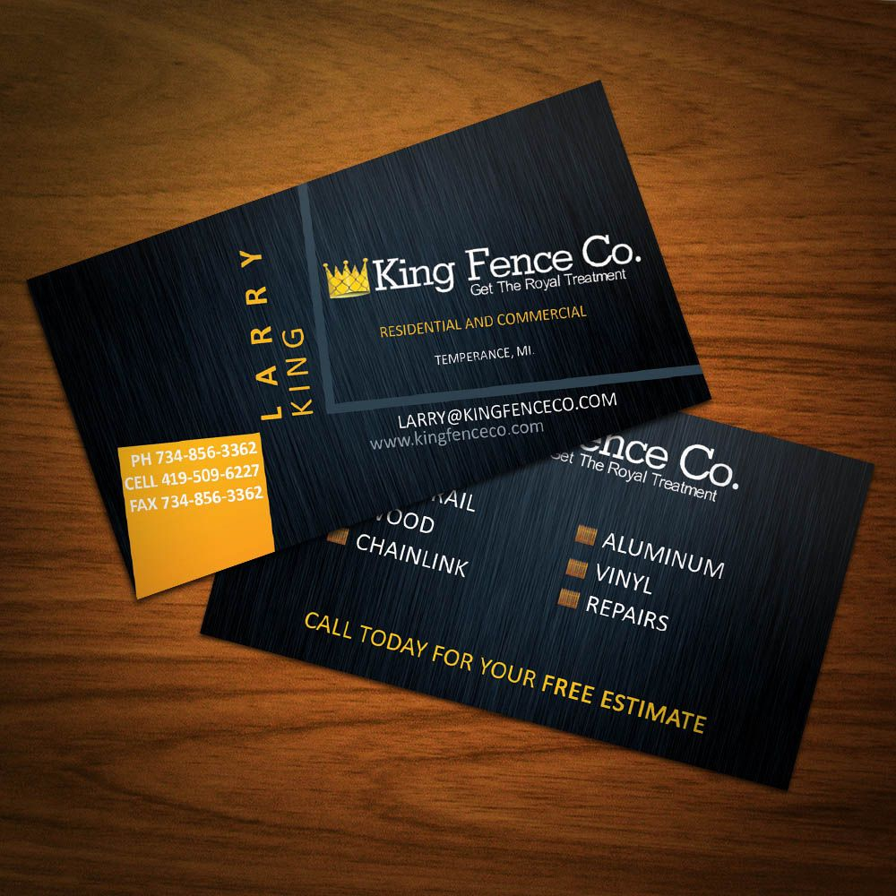 Man business card design google search body photography business cards i designed for a local fence company magicingreecefo Image collections