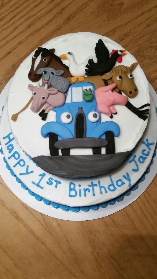 Little Blue Truck Cake With Images Truck Birthday Cakes