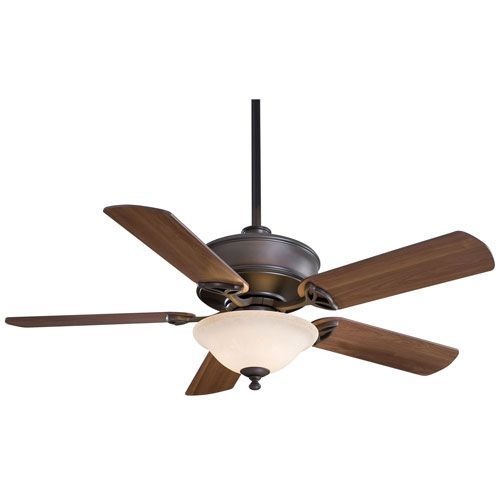 Bolo 52 In. Oil Rubbed Bronze Ceiling Fan With Medium Maple Blades Minka Aire Stem Mounted