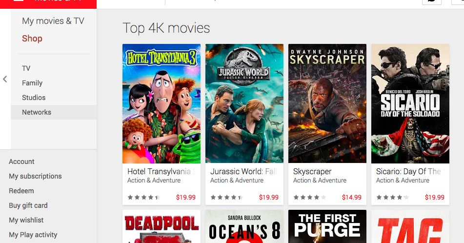 google play is upgrading your movie purchases to 4k for free the