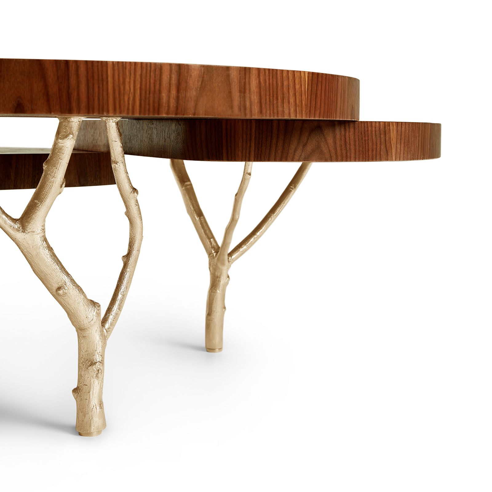 1990s Mediterranean Olive Tree Branch Side Table Tree Branches