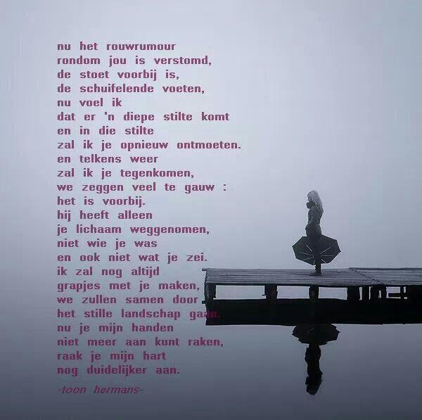 Na Het Rouwrumoer Toon Hermans Gedichten Teksten En