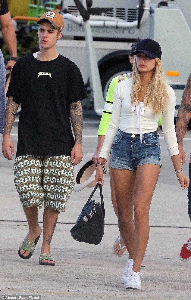 Toned: Hailey showed off her legs, which appeared to go all the way up to her…