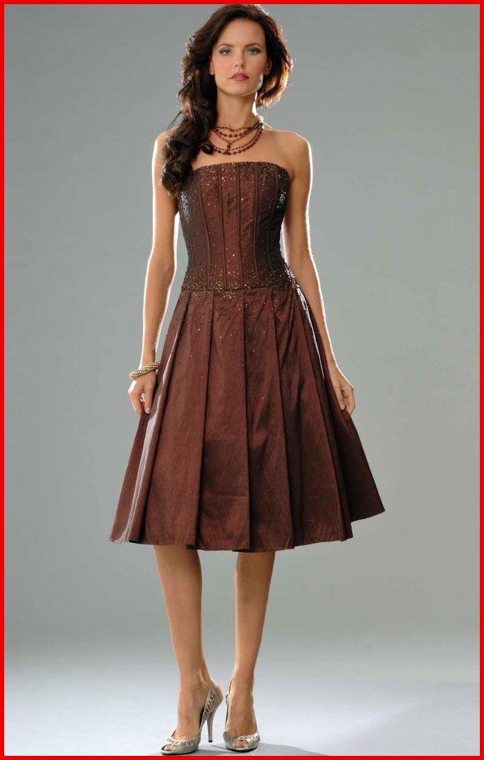 Brown Cocktail Dress - Ocodea.com