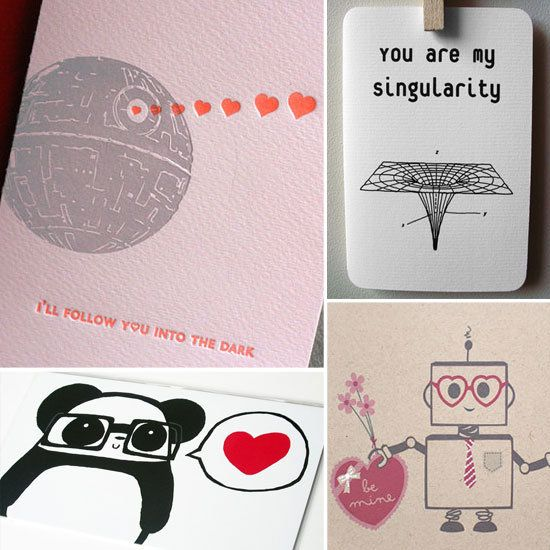 Nerdy Valentine's Day cards for your favorite geek! (via Etsy)