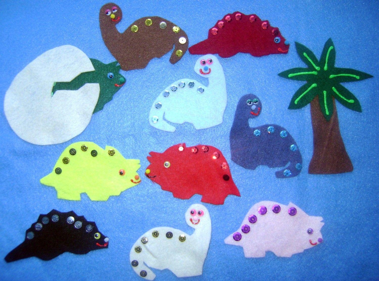 Ten Terrible Dinosaurs Flannel Felt Board